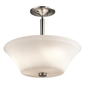 Aubrey - 3 Light Semi-Flush Mount - with Transitional inspirations - 13 inches tall by 15 inches wide
