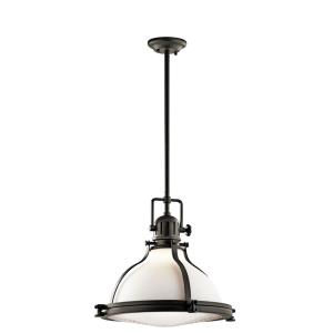 Hatteras Bay - 1 light Pendant - with Vintage Industrial inspirations - 16.75 inches tall by 18 inches wide