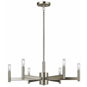 Erzo - 6 light Meidum Chandelier - with Soft Contemporary inspirations - 9.25 inches tall by 26 inches wide