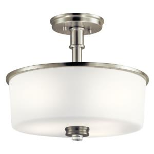 Joelson - 3 Light Semi-Flush Mount - with Transitional inspirations - 11.5 inches tall by 14.25 inches wide