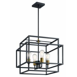 Taubert - 4 light Pendant - 16.5 inches tall by 18 inches wide