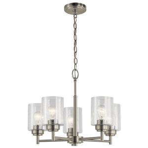 Winslow - 5 light Small Chandelier - 16 inches tall by 19.75 inches wide