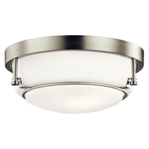 Belmont - 2 light Flush Mount - with Transitional inspirations - 5.25 inches tall by 12.5 inches wide