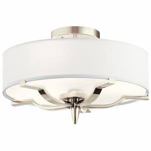 Kinsey - 3 light Flush Mount - with Transitional inspirations - 9.25 inches tall by 15 inches wide