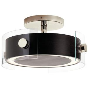 Tig - 40W 1 LED Semi-Flush Mount - 8.25 inches tall by 15.25 inches wide