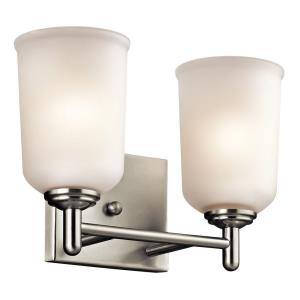 Shailene - 2 Light Bath Vanity Approved for Damp Locations - with Transitional inspirations - 8.25 inches tall by 12.5 inches wide
