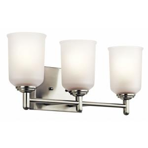Shailene - 3 Light Bath Vanity Approved for Damp Locations - with Transitional inspirations - 8.25 inches tall by 21 inches wide