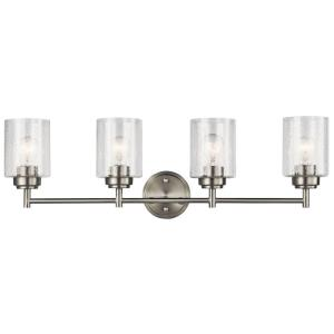 Winslow - 4 Light Bath Vanity Approved for Damp Locations - with Contemporary inspirations - 30 inches wide