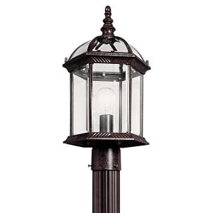 Barrie - 10W 1 LED Outdoor Post Lantern - with Traditional inspirations - 18 inches tall by 9.75 inches wide