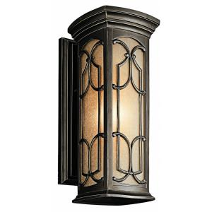 Franceasi - 1 light Wall Mount - with Traditional inspirations - 18 inches tall by 7 inches wide
