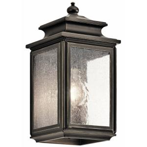 Wiscombe Park - 1 light Outdoor Small Wall Mount - 12.25 inches tall by 6 inches wide