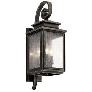 Wiscombe Park - 3 light Outdoor Medium Wall Mount - 21.75 inches tall by 7.5 inches wide