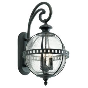Halleron - 3 light Outdoor X-Large Wall Lantern - with Traditional inspirations - 22.75 inches tall by 12 inches wide
