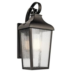 Forestdale - 1 light Small Outdoor Wall Lantern - with Traditional inspirations - 14.75 inches tall by 7 inches wide