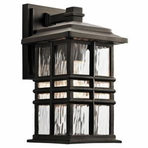 Beacon Square - 1 Light Outdoor Wall Sconce - with Arts and Crafts/Mission inspirations - 6.5 inches wide