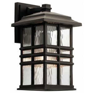 Beacon Square - 1 Light Outdoor Wall Sconce - with Arts and Crafts/Mission inspirations - 8 inches wide
