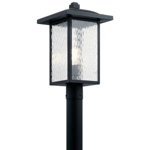 Capanna - 1 light Outdoor Post Lantern - with Transitional inspirations - 18.25 inches tall by 10.5 inches wide