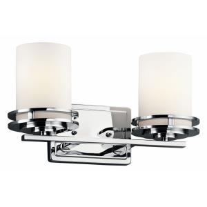 Hendrik - 2 light Bath Fixture - with Soft Contemporary inspirations - 7.75 inches tall by 14.5 inches wide