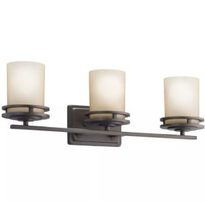 Hendrik - 3 light Bath Fixture - with Soft Contemporary inspirations - 7.75 inches tall by 24 inches wide