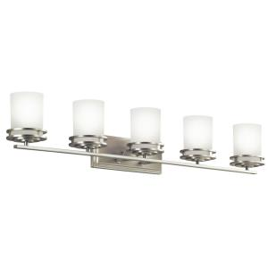Hendrik - 5 light Bath Bar - with Soft Contemporary inspirations - 7.75 inches tall by 43 inches wide