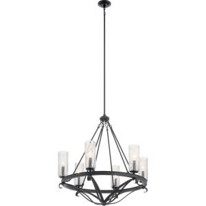 Krysia - 6 light Large Chandelier - with Lodge/Country/Rustic inspirations - 30 inches tall by 29.25 inches wide