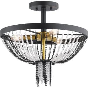 Alexia - 3 Light Semi-Flush Mount - with Traditional inspirations - 15 inches tall by 16 inches wide