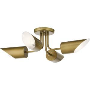 Trentino - 4 light Semi-Flush Mount - 8 inches tall by 28 inches wide