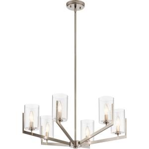 Nye - 6 light Meidum Chandelier - with Transitional inspirations - 14.75 inches tall by 28 inches wide