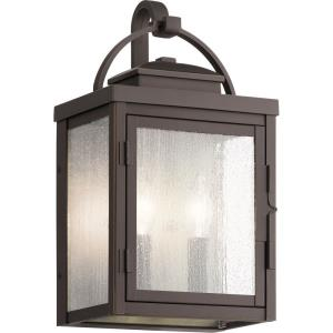 Carlson - 2 light Medium Outdoor Wall Lantern - with Traditional inspirations - 14.75 inches tall by 8.25 inches wide