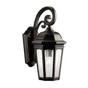 Courtyard - 1 light Outdoor Medium Wall Mount - with Traditional inspirations - 17.75 inches tall by 8.25 inches wide