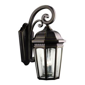 Courtyard - 3 light Outdoor X-Large Wall Mount - with Traditional inspirations - 22.25 inches tall by 10.25 inches wide