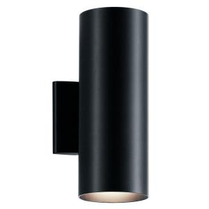 2 light Small Outdoor Wall Lantern - with Contemporary inspirations - 12 inches tall by 4.75 inches wide
