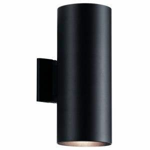 2 light Medium Outdoor Wall Lantern - with Contemporary inspirations - 15 inches tall by 5.75 inches wide