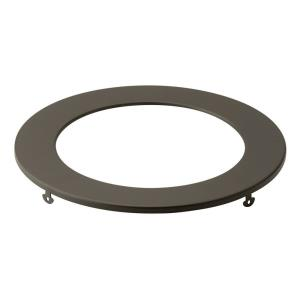 Direct to Ceiling - Round Slim Downlight Trim - with Utilitarian inspirations - 0.5 inches tall by 7 inches wide